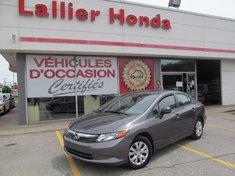 Honda Civic Sdn DX-le dx 2012  le moins cher au quebec 2012