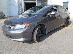 Honda Civic LX+Garantie jusqu'a 200.000km 2012