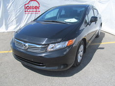 Honda Civic LX BERLINE + GARANTIE 10 ANS/200.000KM 2012