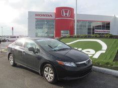 Honda Civic LX BERLINE + GARANTIE 10ANS/200.000KM 2012
