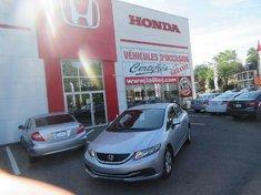 2013 Honda Civic LX+Bas kilo!!+Impeccable