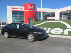 Honda Civic LX BERLINE + GARANTIE 10ANS/200.000KM 2013