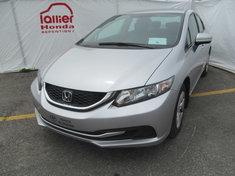 Honda Civic LX BERLINE + GARANTIE 10ANS/200.000KM 2014