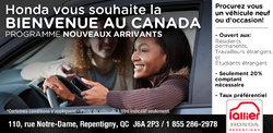 Honda vous souhaite la bienvenue au Canada