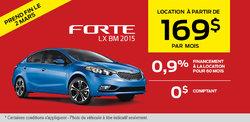 La nouvelle Kia Forte 2015 à 169$ par mois