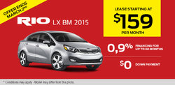 2015 Kia Rio - Yours for only $159 monthly!