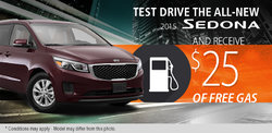 Test drive the all-new 2015 Kia Sedona today!