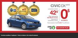 Honda Civic DX 2015 en location à 42$/semaine