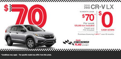 Lease the All-New 2015 Honda CR-V LX starting at $70 weekly