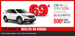 Louez la nouvelle Honda CR-V 2016 aujourd'hui!