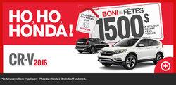 Obtenez la nouvelle Honda CR-V 2016 aujourd'hui!