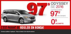 Le Honda Odyssey SE 2016 en location à partir de 97$ par semaine