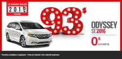 Le Honda Odyssey SE 2016 en location à partir de 93$ par semaine