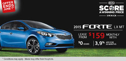 2015 Kia Forte - Lease it for as low as $159 monthly!