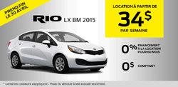Louez la nouvelle Kia Rio LX 2015 à vous à partir de 148$ par mois