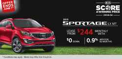Lease the all-new 2015 Kia Sportage LX BM TA for only $244 monthly!