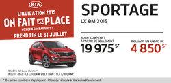Le Kia Sportage 2015 à partir de 19 975$