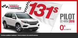 Louez le Honda Pilot 2016 à 131$ par semaine!