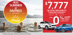 Kia's Summer of Savings Sales Event!