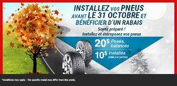 Changez vos pneus en mème temps que les feuilles changent de couleur